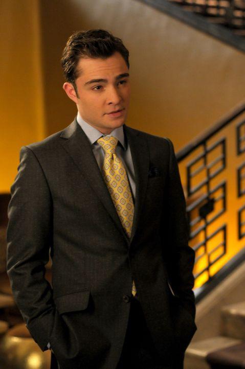Chuck (Ed Westwick) hat sein Penthouse für die Wahlparty von Tripp van der Bilt zur Verfügung gestellt. - Bildquelle: Warner Bros. Television