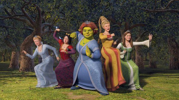 Macht erneut Ärger: Prinz Charming versucht Fiona (M.) und die anderen Prinze...