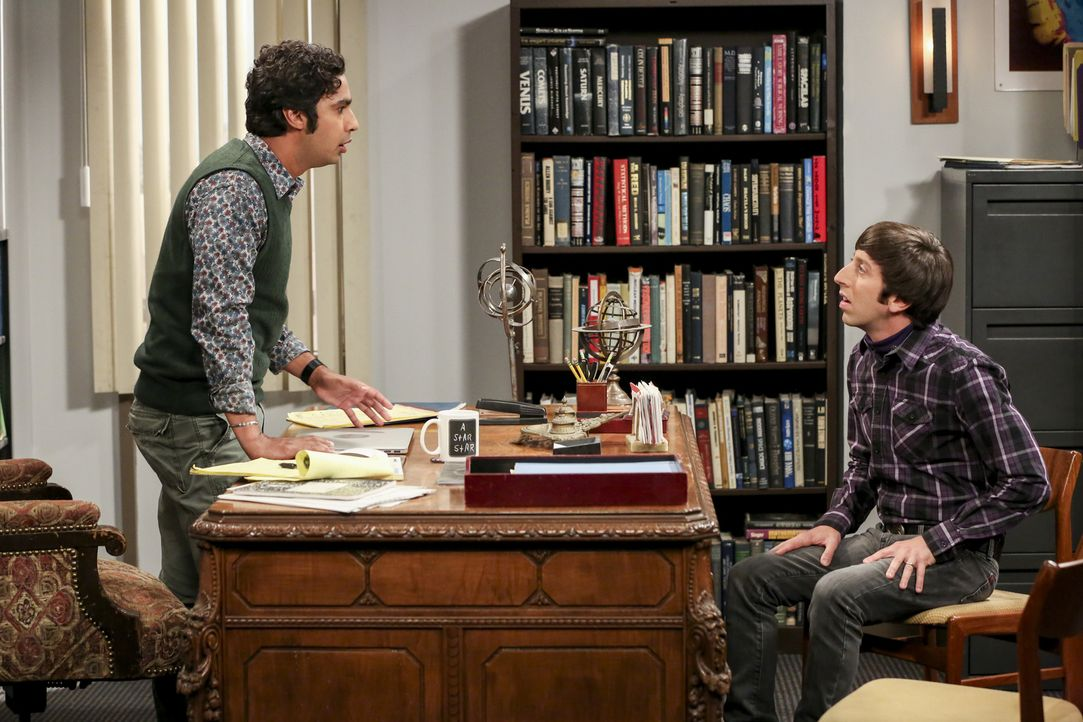 Raj (Kunal Nayyar, l.); Howard (Simon Helberg, r.) - Bildquelle: Michael Yarish Warner Bros./Michael Yarish
