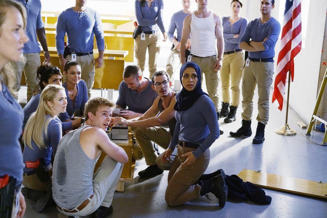 Die Zwischenprüfung steht bevor und auf die Rekruten wartet eine explosive Aufgabe: (sitzend v.l.n.r.) Alex (Priyanka Chopra), Shelby (Johanna Bradd... - Bildquelle: Jonathan Wenk 2015 ABC Studios