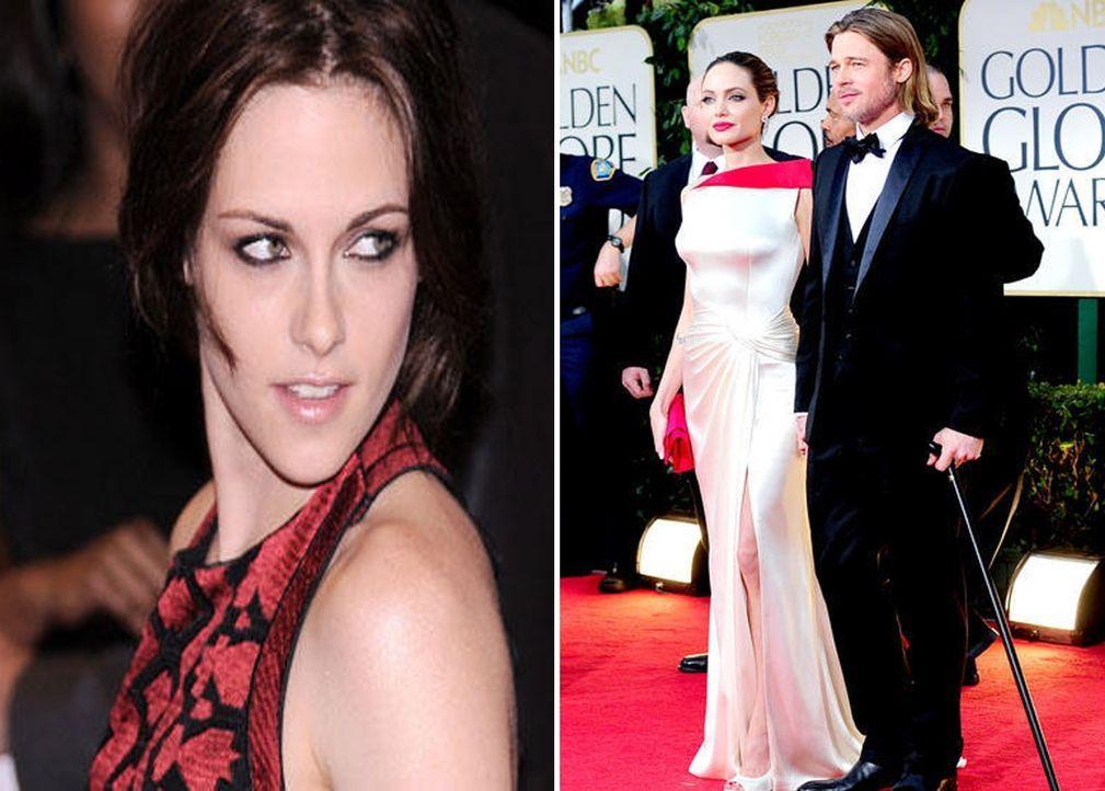 Kristen Stewart; Brad Pitt und Angelina Jolie - Bildquelle: AFP