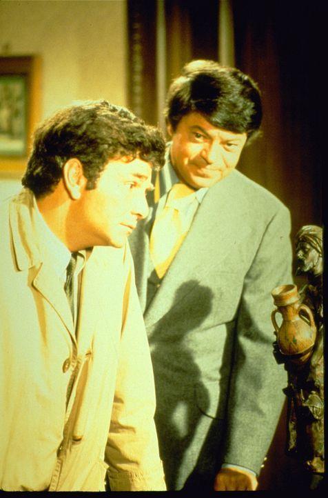 (v.l.n.r.) Columbo (Peter Falk); Dale Kingston (Ross Martin) - Bildquelle: 1971 Universal City Studios LLLP. All Rights Reserved.