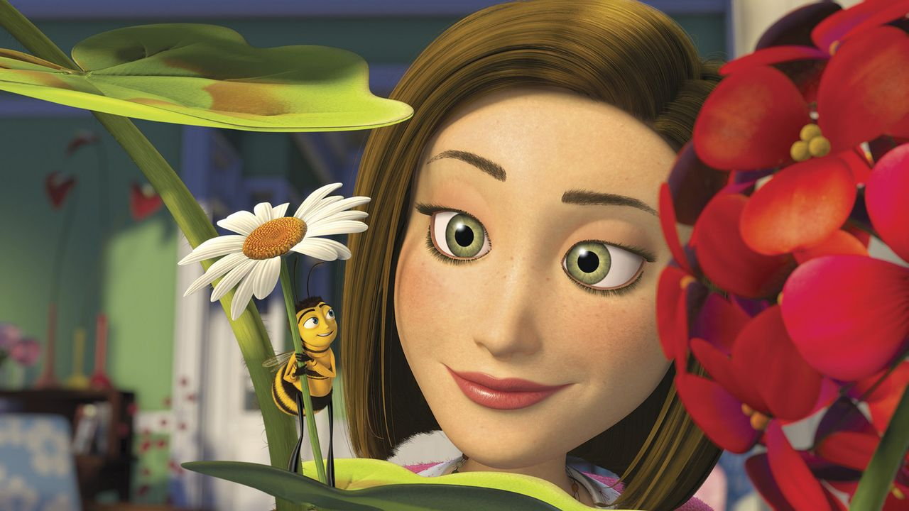 Für Vanessa (r.) bricht Barry (l.) eine Hauptregel des Bienenvolkes: Er spricht sie an ... - Bildquelle: BEE MOVIE TM &   2007 DREAMWORKS ANIMATION LLC. All Rights Reserved.
