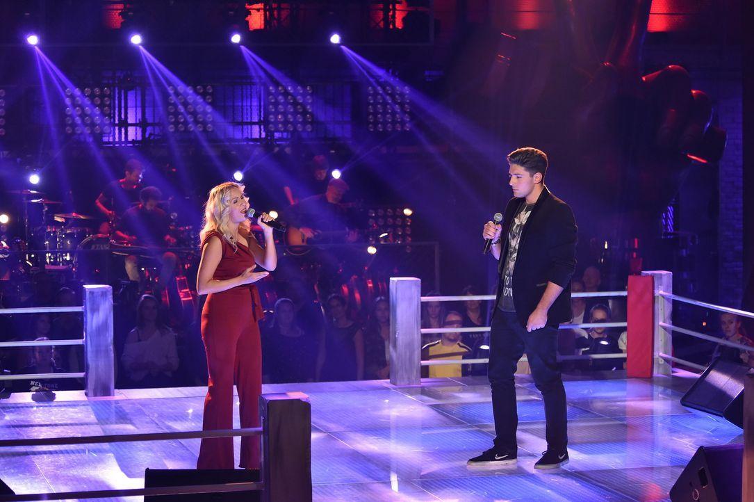 S1P7_Voice_SD10_Vorbericht_Karina und Alexander - Bildquelle: SAT.1/ProSieben/André Kowalski