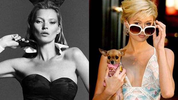 Top: Kate Moss+++Flop: Paris Hilton - Bildquelle: Playboy, Facebook / dpa