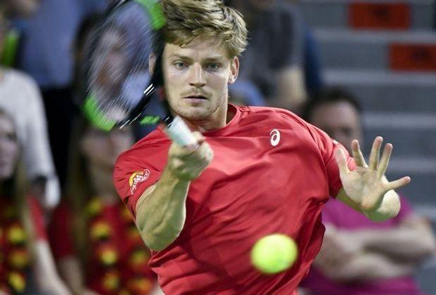 Goffin in der Davis-Cup-Partie gegen Paolo Lorenzi