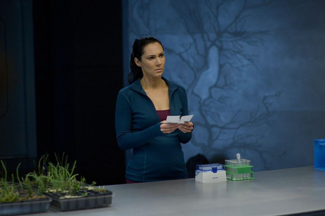Julia (Kyra Zagorsky) will Antworten, aber wird Hatake ihr wirklich alles erzählen, was sie dringend wissen will? - Bildquelle: 2014 Sony Pictures Television Inc. All Rights Reserved.