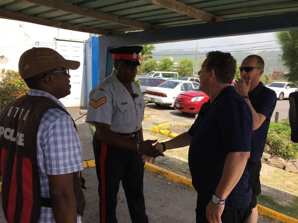 Toto (2.v.r.) und Harry (r.) wagen sich zu ihrem bisher härtesten Einsatz, denn Jamaika hat mehr Kriminalität zu bieten, als die Touristen glauben .... - Bildquelle: kabel eins