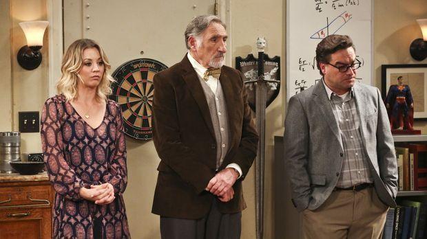 Penny (Kaley Cuoco, l.) und Leonard (Johnny Galecki, r.) freuen sich darauf,...