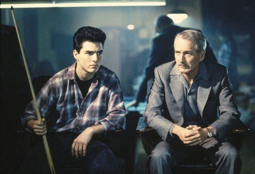 Die Farbe des Geldes - Ex-Poolbillard-Profi Eddie (Paul Newman, r.) ist in di...