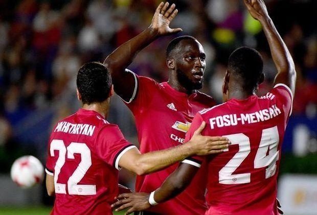 Lukaku feiert seinen ersten Treffer im United-Dress