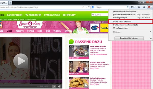 Adblocker im Firefox deaktivieren Schritt 2