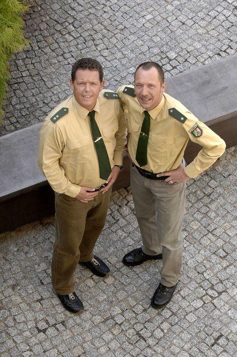 Toto (l.)  und Harry (r.) sind wieder unterwegs.  Da geht es Ladendieben an den Kragen, sturztrunkenen Autofahrern an den Führerschein und den Zusch... - Bildquelle: kabel eins