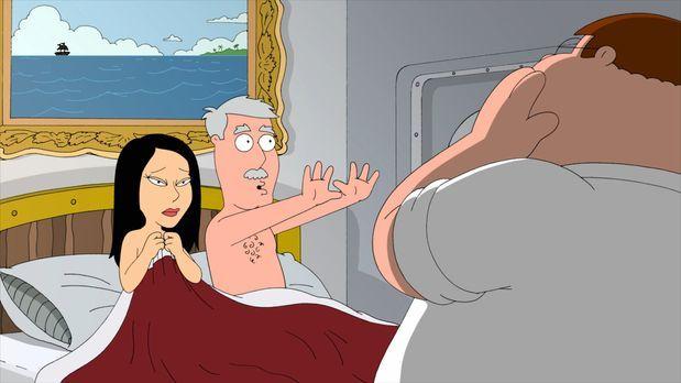 Family Guy - Peter (r.) und Lois sind zu einem Abendessen bei Lois' Eltern ei...