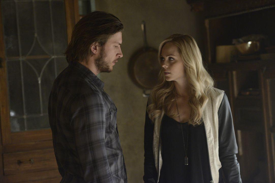 Während Elena (Laura Vandervoort, r.) verzweifelt versucht, eine Spur zu dem Wolfsmörder zu finden, macht Clay (Greyston Holt, l.) ihr unablässig Av... - Bildquelle: 2014 She-Wolf Season 1 Productions Inc.