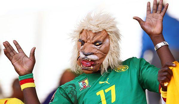 WM Brasilien - Kamerun-Fan Loewe - Bildquelle: dpa