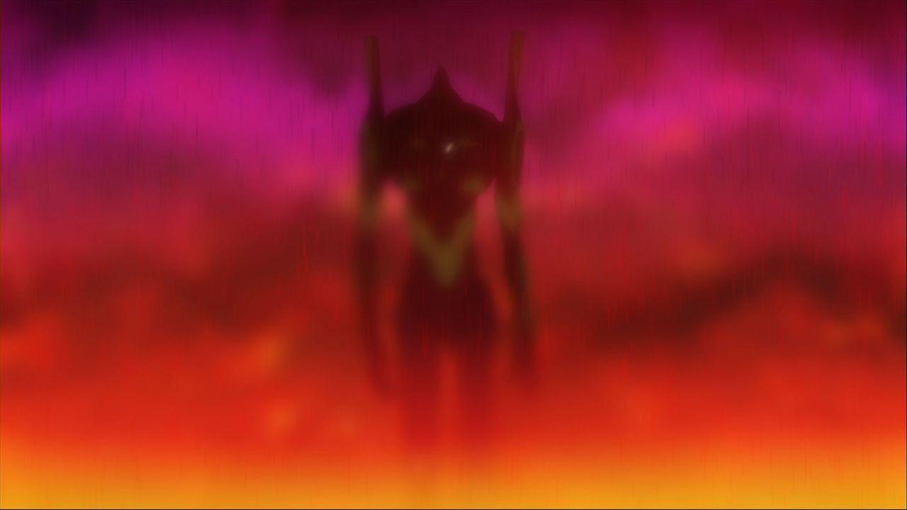 Nach einem inneren Konflikt entscheidet sich Shinji schließlich dazu, als Pilot der Kampfmaschine EVA 01 gegen die Engel zu kämpfen ... - Bildquelle: khara, GAINAX. All rights reserved