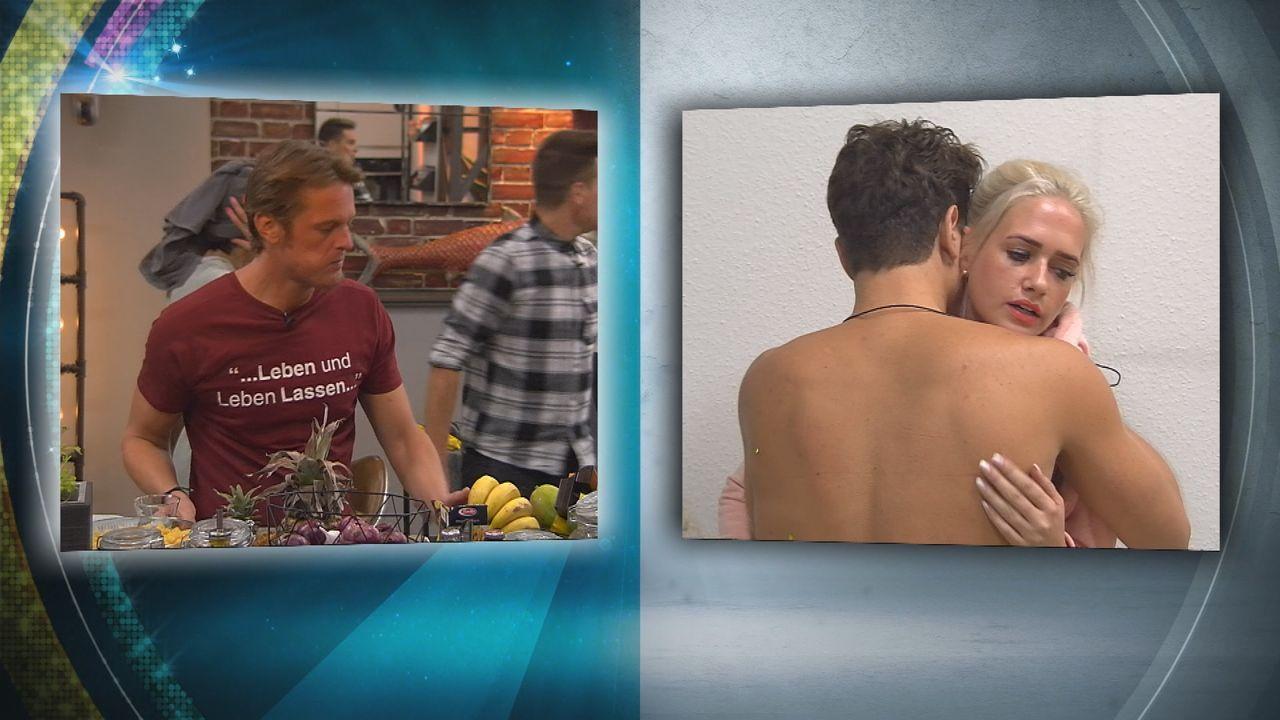 """Während Steffen bei """"Promi Big Brother"""" weiterhin dabei ist, heißt es Abschied nehmen für und von Sarah Knappik - Bildquelle: SAT.1"""