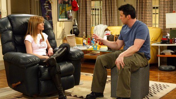 Ross, Monica, Joey (Matt LeBlanc, r.), Phoebe und Chandler geben eine Abschie...