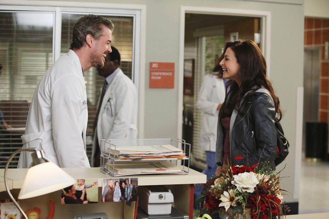Während Mark (Eric Dane, l.) einen ganz besonderen Patienten hat, versucht Amelia (Caterina Scorsone, r.) sich ihrem Bruder Derek wieder etwas anzun... - Bildquelle: ABC Studios