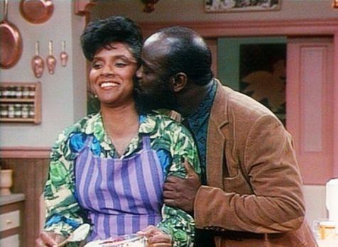 Bill Cosby Show - Dr. Harmond, ein Freund von Cliff, begrüßt Clair (Phylicia...