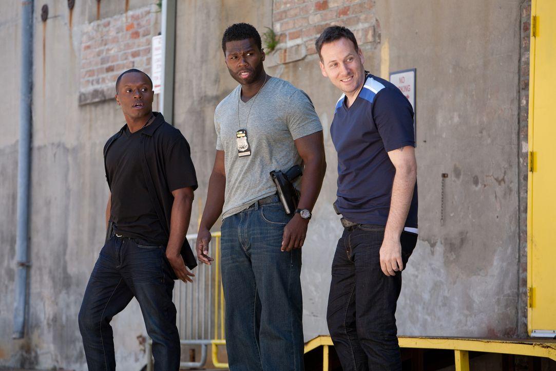 Nicht immer standen Malo (50 Cent, M.) und seine Freunde A.D. (Malcolm Goodwin, r.) und Lucas (Ryan O'Nan, l.) auf der richtigen Seite des Gesetzes,... - Bildquelle: Steve Dietl Constantin Film Verleih GmbH