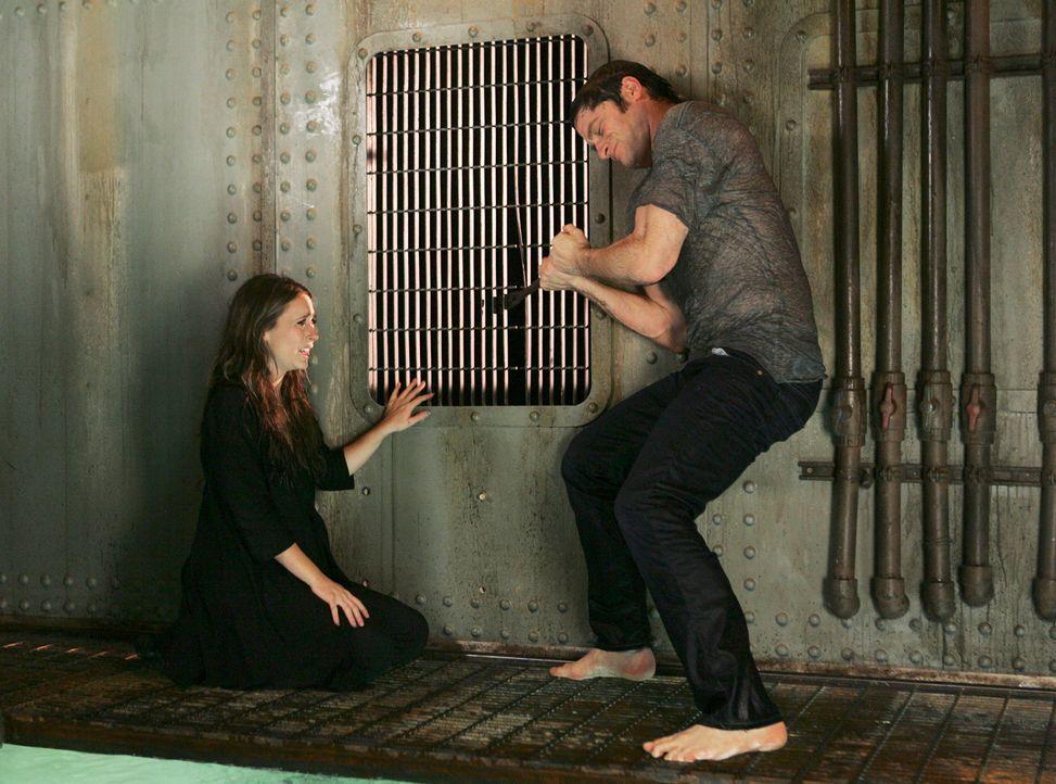 Nachdem Sam (David Conrad, r.) Melinda (Jennifer Love Hewitt, l.) vor dem Ertrinken gerettet hat, macht seine Seele eine drastische Änderung durch .... - Bildquelle: ABC Studios