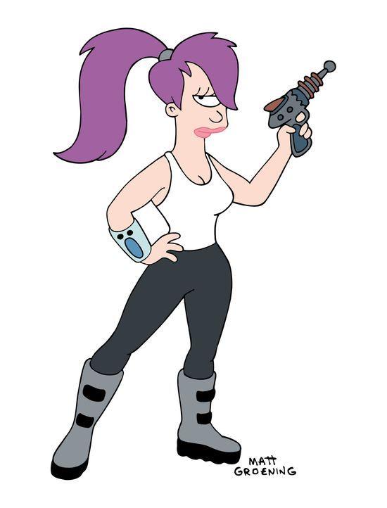 (5. Staffel) - Leela ist die Pilotin des Planet Express-Auslieferungsschiffes. Sehr hübsch, sehr außerirdisch, sehr einäugig. - Bildquelle: und TM Twenthieth Century Fox Film Corporation - Alle Rechte vorbehalten