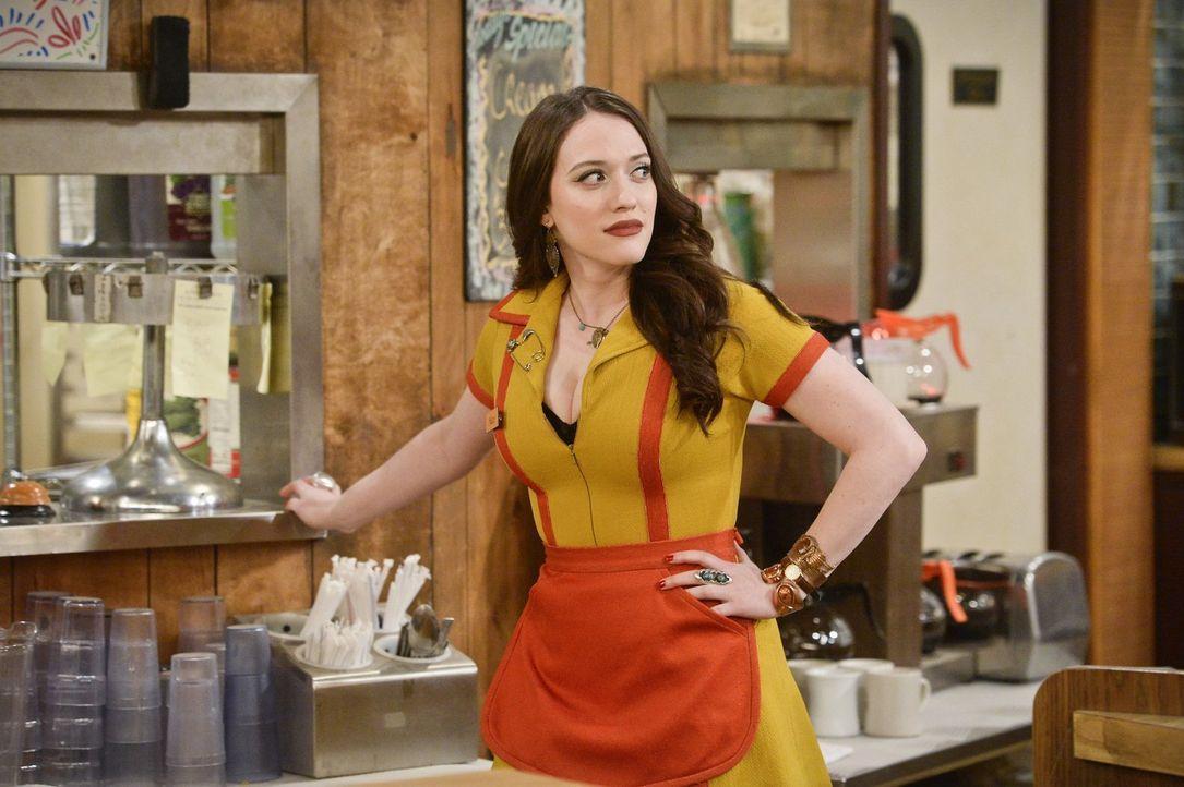 Max (Kat Dennings) ist schockiert, als Randy das Diner betritt, hat er doch mit ihr Schluss gemacht. Kein Wunder, dass es ihr auf einmal schwerfällt... - Bildquelle: 2016 Warner Brothers