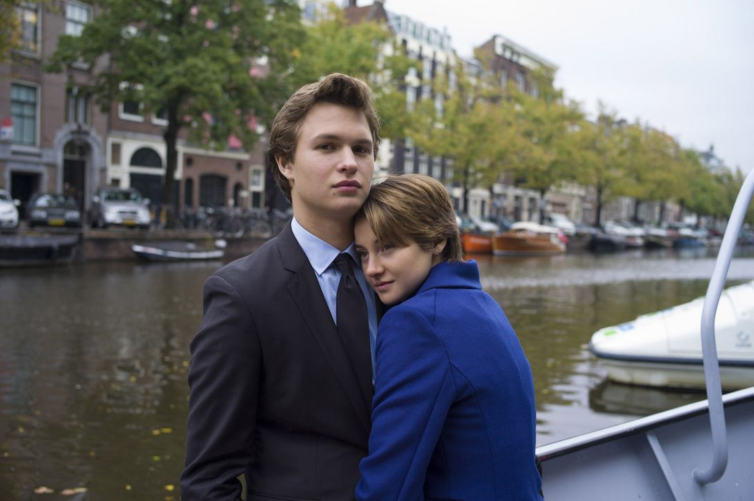 Während sie sich in Amsterdam auf die Spuren eines Autors begeben, kommen sich die an Schilddrüsenkrebs erkrankte Hazel (Shailene Woodley, r.) und G... - Bildquelle: James Bridges 2014 Twentieth Century Fox Film Corporation. All Rights Reserved. Not for Sale or Duplication.