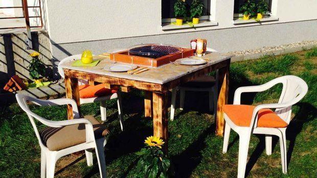 Garten-Tischgrill DIY