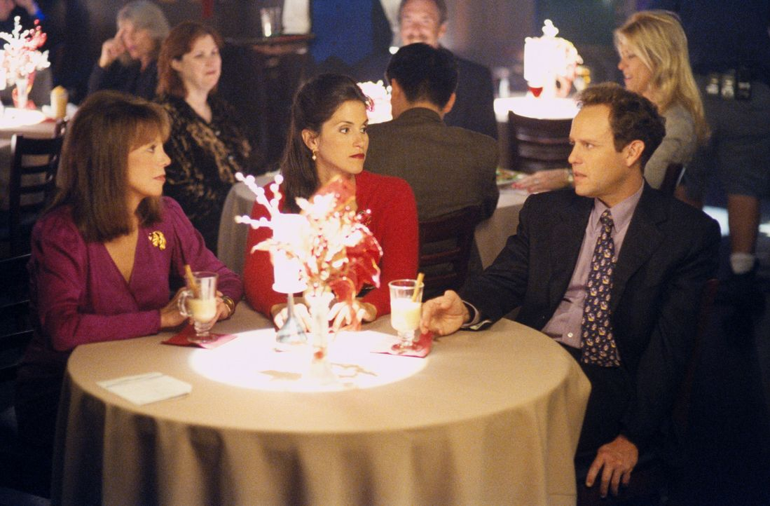 John (Peter MacNicol, r.) trifft eine Entscheidung: Er will sich nicht mehr mit Kimmy (Jami Gertz, M.) treffen, wenn ihre Mutter Linny (Marlo Thomas... - Bildquelle: 2000 Twentieth Century Fox Film Corporation. All rights reserved.