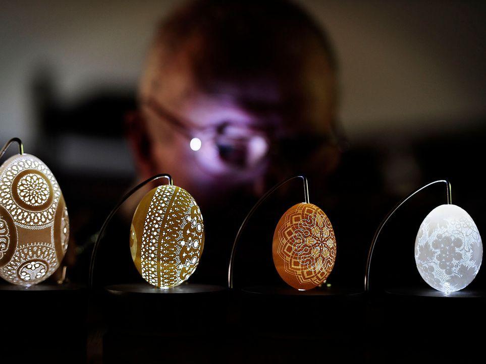 Eier-Ornamente-AFP - Bildquelle: AFP
