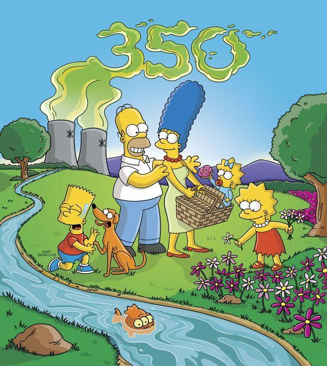Die Simpsons machen einen Ausflug ins Grüne: Auf 350 stattliche Folgen hat es die beliebte Fernsehfamilie bereits gebracht! - Bildquelle: und TM Twentieth Century Fox Film Corporation - Alle Rechte vorbehalten