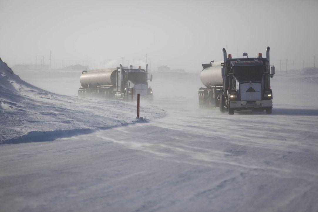 (4. Staffel) - Die Ice Road Truckers üben einen der gefährlichsten Jobs der Welt aus: Sie müssen bei heftigen Stürmen und Temperaturen weit unter de... - Bildquelle: 2010 A&E Television Networks.   All Rights Reserved.