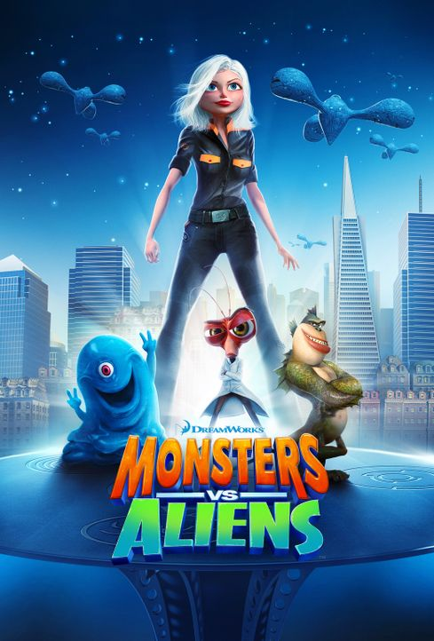 MONSTERS VS. ALIENS - Plakatmotiv - Bildquelle: TM and   2008 by DreamWorks Animation LLC. All rights reserved.