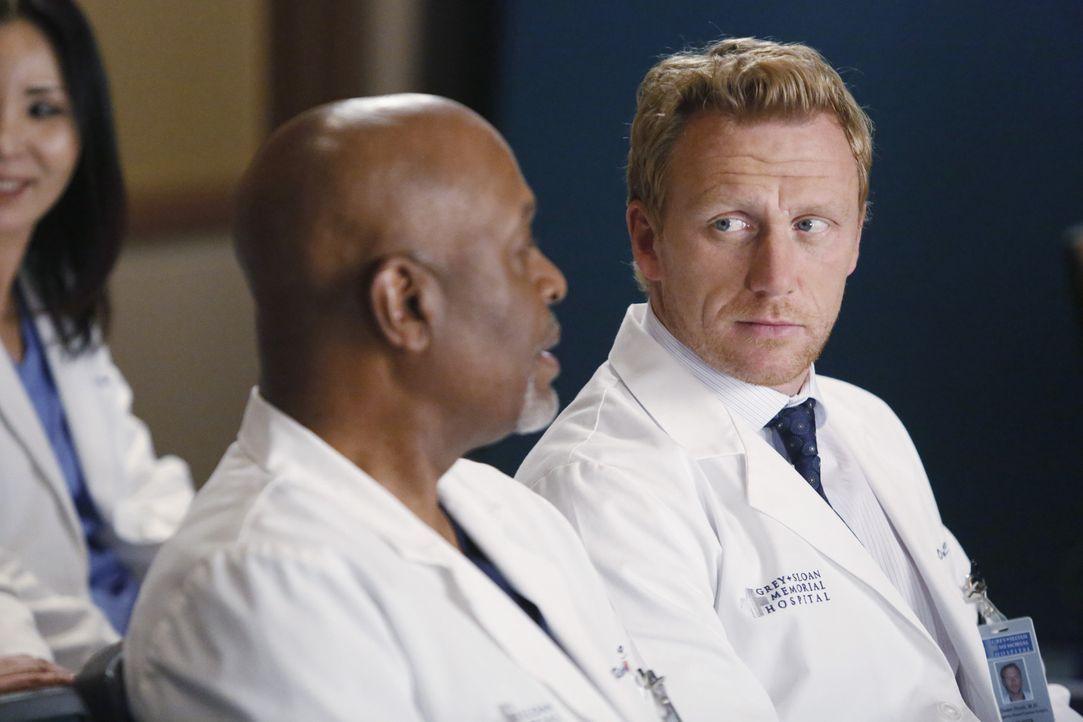 Amelia gibt eine detaillierte Vorlesung über die Besonderheiten und möglichen Komplikationen der Operation von Dr. Herman. Webber (James Pickes Jr.,... - Bildquelle: ABC Studios
