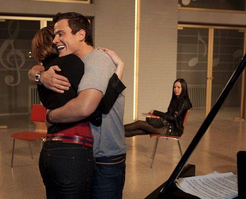 In seinen Bemühungen, ihr zu helfen, versucht Timo, Sophie in den Chor zu integrieren. Doch Luzi ist zutiefst eifersüchtig ... - Bildquelle: David-Saretzki - Sat1
