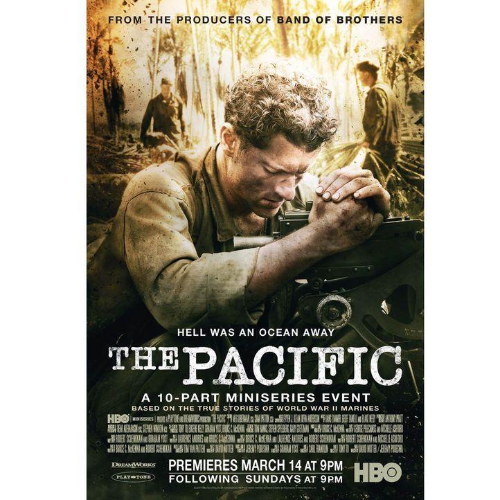 Für US-Marine Robert Leckie (James Badge Dale) und seine Kameraden beginnt im pazifischen Seeraum ein gnadenloser Kampf ums Überleben ... - Bildquelle: Home Box Office Inc. All Rights Reserved.