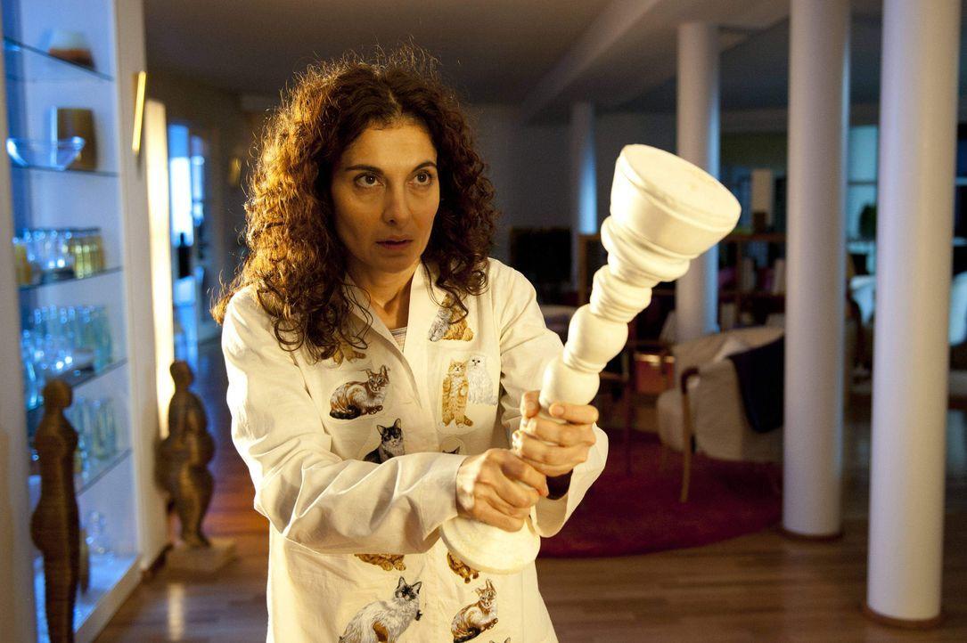 Weil Tanja (Proschat Madani) von Selbstvorwürfen geplagt wird, kann sie nachts nicht schlafen. Da hört sie, wie ein Einbrecher ins Therapiezentrum... - Bildquelle: SAT.1