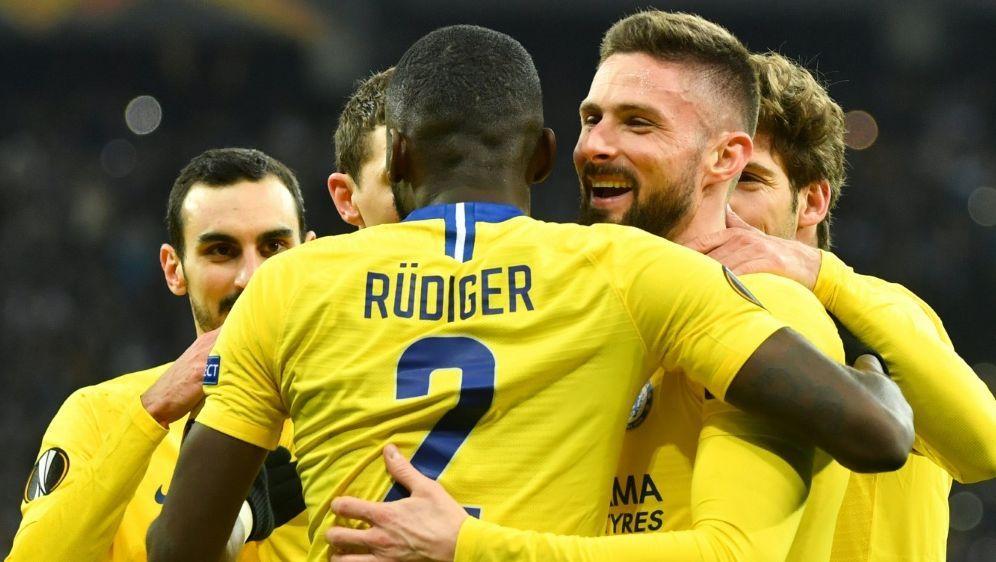 Der FC Chelsea gewinnt souverän gegen Dynamo Kiew - Bildquelle: AFPSIDSERGEI SUPINSKY