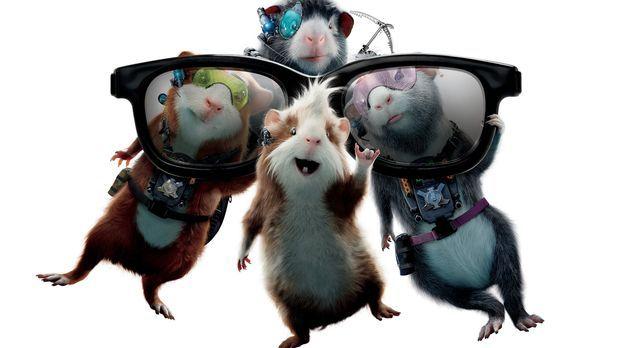 G-Force - Agenten mit Biss: Hurley (M.), Juarez (r.), Darwin (l.) und Blaster...