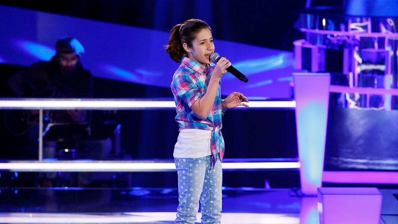 The-Voice-Kids-epi05-Michele-3-SAT1-Richard-Huebner - Bildquelle: SAT.1/Richard Hübner