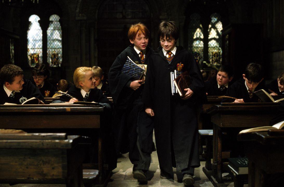 Werden schnell zu besten Freunden: Harry Potter (Daniel Radcliffe, r.) und Ron Weasley (Rupert Grint, l.) ... - Bildquelle: Warner Bros. Pictures