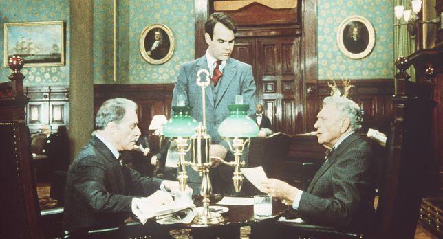 Die Glücksritter - Die Rohstoffmakler Randolph (Ralph Bellamy, r.) und Mortim...
