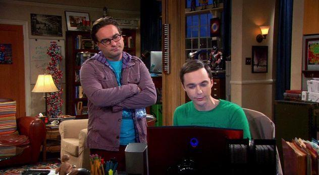 The Big Bang Theory - Staffel 6 Episode 7: Leonard (Johnny Galecki), Sheldon...