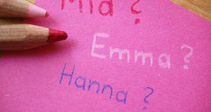 Drei der beliebtesten Mädchennamen in den vergangenen Jahren: Hanna, Emma und...