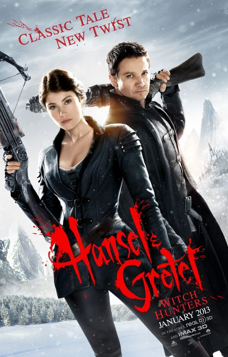 HÄNSEL UND GRETEL: HEXENJÄGER - Plakatmotiv - Bildquelle: 2013 Paramount Pictures.  All Rights Reserved.