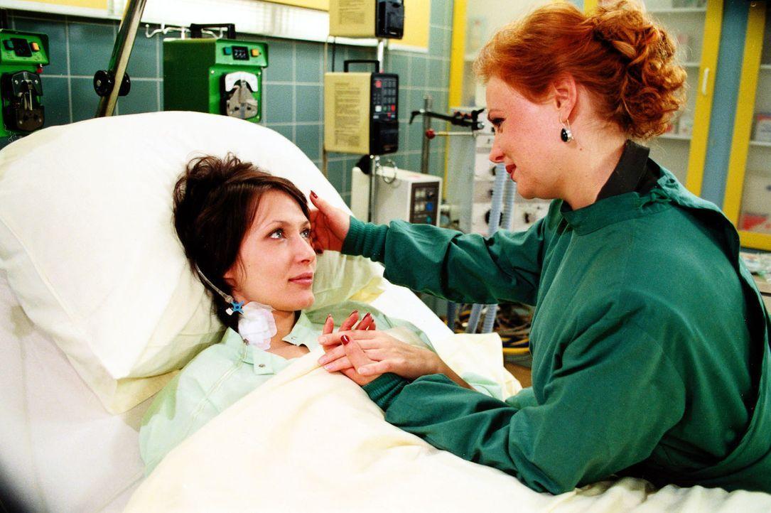 Die unglücklich verheiratete Anna Boddien (Ina Rudolph, l.) bekennt sich endlich dazu, dass sie sich in Hanne Loor (Petra Berndt, r.) verliebt hat. - Bildquelle: Noreen Flynn Sat.1