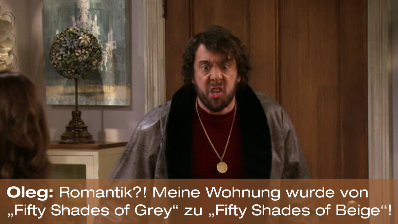 2-Broke-Girls-Zitat-Quote-Staffel2-Episode20-Das-Loch-in-der-Decke-Oleg-Beige-Warner - Bildquelle: Warner Bros. Television